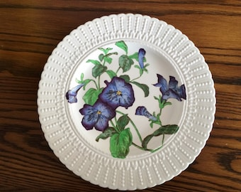 CAULDON BONE CHINA Floral Plate - Morning Glories - Made in England - 2476