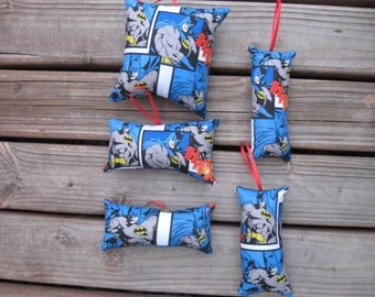 Batman Pillow Ornaments #10 - Set of 5