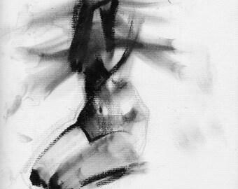 Haunting Fine Art Figure Drawing, No. 89
