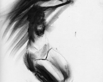Haunting Fine Art Figure Drawing, No. 91