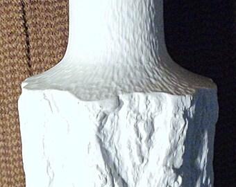 """Mid century German White Bisque Porcelain Vase by Ernst Fenzl BAREUTHER Bavaria SILVANA pattern 9-11"""""""