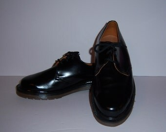 Vintage Doc Dr. Martens Black Leather Creepers Brogues Oxfords AirWair Shoes US 8 UK 6 Grunge Punk