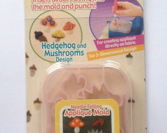Clover needle felting applique mould mold - hedgehog