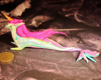 Candy the pink maned unicorn mermaid figurine