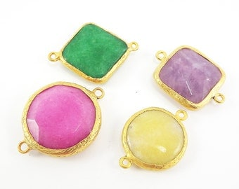 CLEARANCE DISCOUNT - 22k Gold plated Bezel - 4pc- LOT 4
