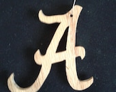 University of Alabama Logo Wooden Christmas Ornament Hand Made
