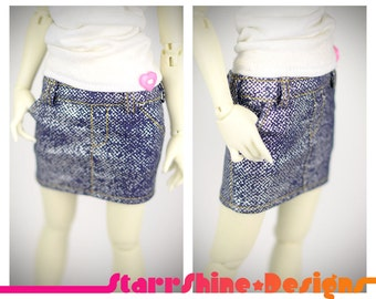 BJD MSD 1/4 Doll Clothing - Denim Skirt