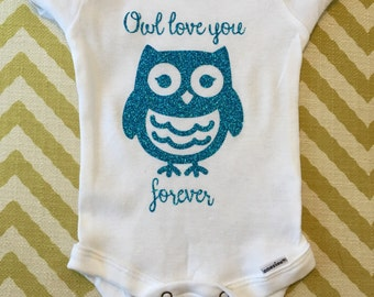 Owl Love You Forever baby onesie