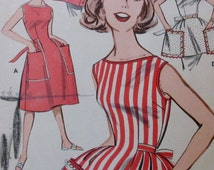 Vintage Butterick APRON Pattern #9579 in  4 styles size 14 - 16  quick and easy **Epsteam