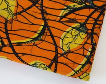AFRICAN WAX PRINT Fabric / Batik Kitenge Ankara Fabric / Sold By The Half Yard / 100% cotton