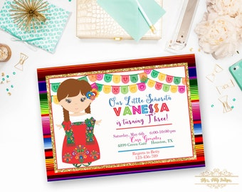 PRINTABLE- Fiesta Mexican Birthday Invitation- YOU PRINT