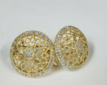 14kt two tone absolutely stunning earring