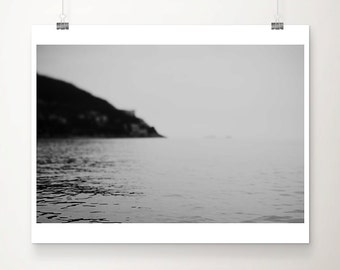 black and white photography ocean photography Dubrovnik photograph landscape photograph coastal print dark art dark photography