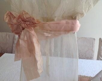 SOLD***SOLD***SOLD***Gorgeous antique cream lace net 1900's tea dress