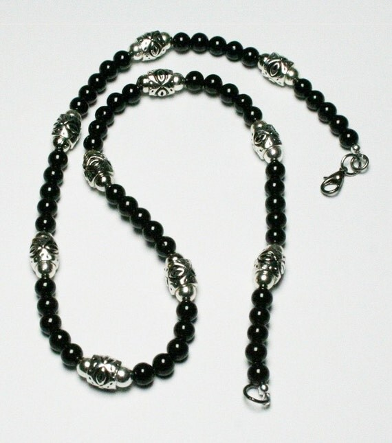 s black jade necklace s black and silver