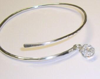 Swarovski Crystal Bracelet, Sterling Silver Band