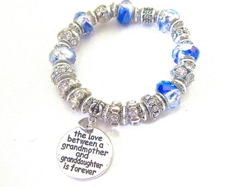 "Love between Grandmother and Granddaughter Bracelet "" My Happiness """