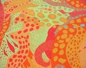 Brandon Mably Aurora Yellow - 1/2 yard cotton quilt fabric