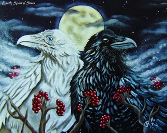 Raven Spirits- Oil on  Canvas- Original Painting by Christina Marin