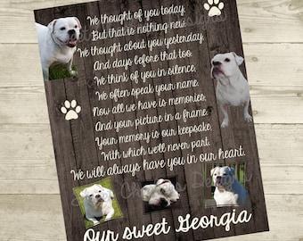 Personalized Pet Memorial - 8x10 Digital File