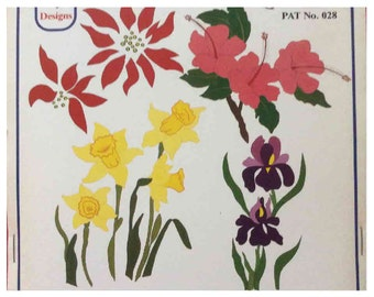 Applique Flower Designs | 1980's Vintage Pattern | for Sewing Stretch Fabric