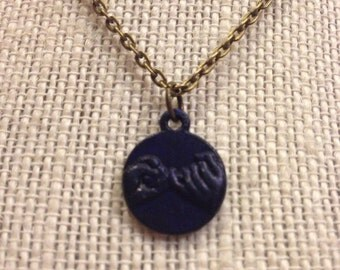 "14"" Navy Pinkie Swear Necklace"