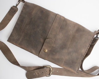 SALE Leather messenger bag Macbook 11 Pro Macbook 11 Air