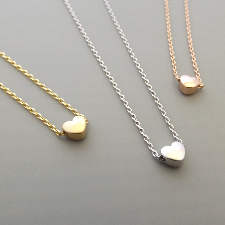 tiny necklace dainty necklace gold by