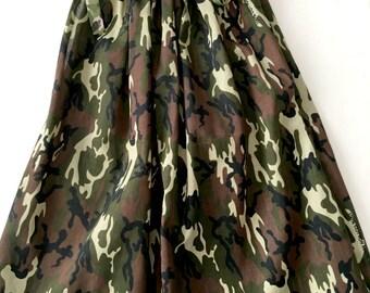 Military Style Pillow Case Dresses,Bandana Military Dresses,Summer Dresses For Girls,Custom Summer Dresses For Girls,Kids Summer Dresses,