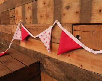Red & White Anchor Bunting