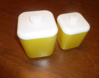 Two Lusterware Containers