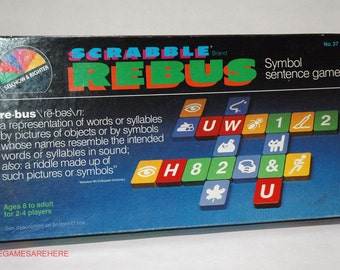 Scrabble Rebus Game from Selchow & Righter 1986 COMPLETE (read description)