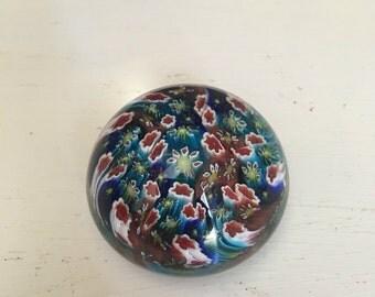 Murano glass round paper weight art decor