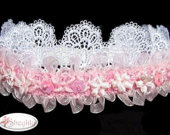 Christening Headband, Bridal,  Baptism , Wedding, Flower Girl, Baby Crown