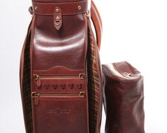 High Quality Leather Golf Bag