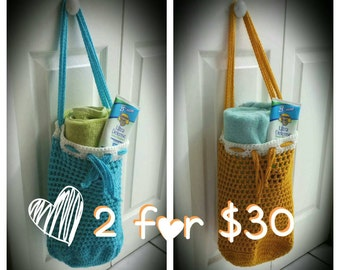 Crochet Beach Bags & Market Totes (2 pack)
