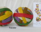 TRAVELER (Doctor Who) – hand-dyed self-striping sock yarn, fingering weight