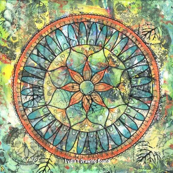 Mandala Art, Mandala Wall Art, Mandala, Original Painting, Meditation Art, Yoga Studio Decor, Dreamy, Mixed Media Art, Sacred Geometry Art