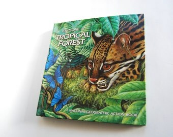 Vintage Book, Explore a Tropical Forest
