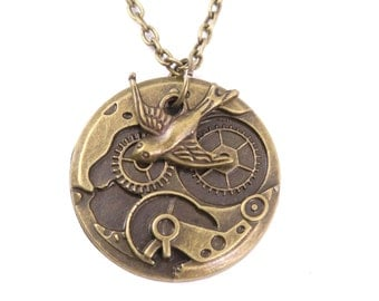 Swallows steampunk chain