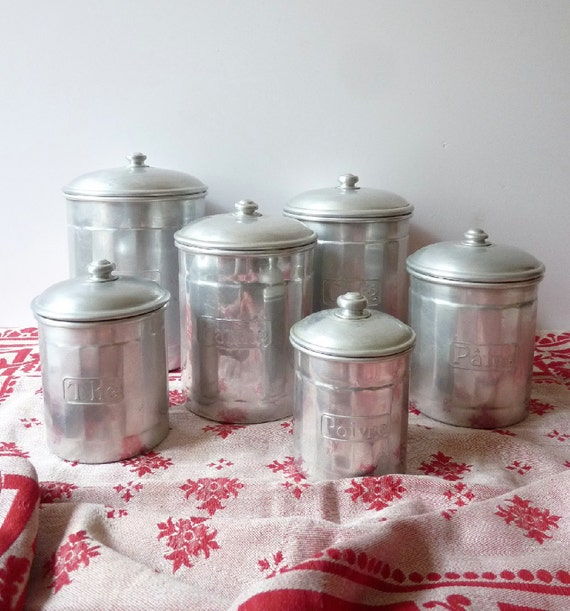 Kitchen Canisters Set French Kitchen Decor French Canisters