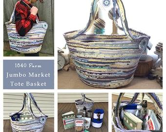 Jumbo Market Tote Basket - Made to Order Handmade Fabric Basket