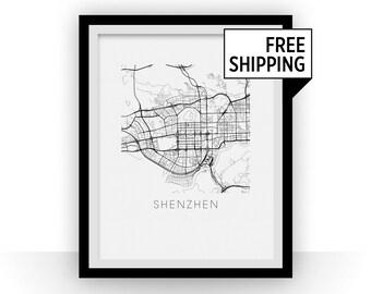 Shenzhen Map Print
