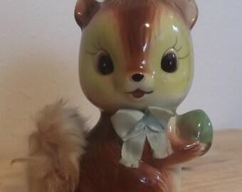 Vintage Ceramic Squirrel Ries Japan