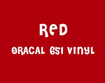 Oracal Red Adhesive Vinyl - 651 High Performance Vinyl