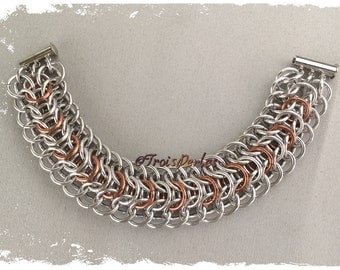 39-chain Maille bracelet-Chainmaille Bracelet