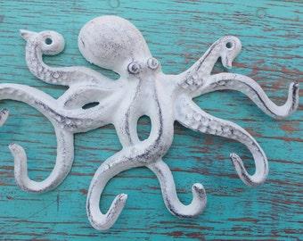 Cast iron coat hooks etsy - Coat hook octopus ...