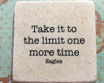 Eagles Song Lyric Decorative Coaster Tile Quote Marble Coaster Trivet Home Or Dorm Room Decor