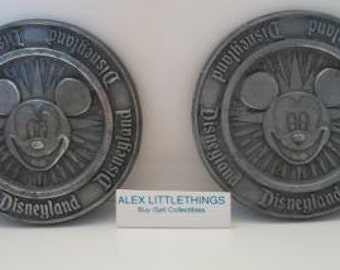 2 Metal Mickey Mouse Disneyland Coasters Kitchen
