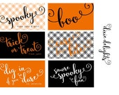 Personalized Halloween Gift Tags + Stickers